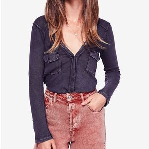 Free People Cotton Henley